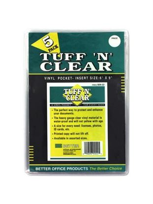 Picture of Tuff 'n' Clear 6 x 9' vinyl pocket (Available in a pack of 24)