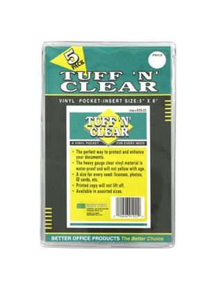 Picture of Tuff 'n' Clear 5 x 8' vinyl pocket (Available in a pack of 24)
