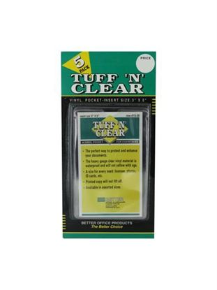 Picture of Tuff 'n' Clear 3 x 5 vinyl pocket (Available in a pack of 24)