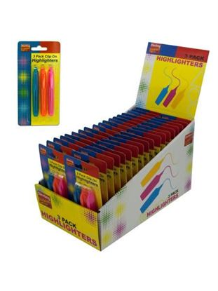 Picture of Clip on highlighters (Available in a pack of 36)