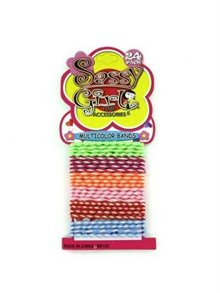 Picture of Multi-color hair bands (Available in a pack of 24)