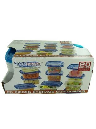Picture of 20 piece storage container set (Available in a pack of 1)