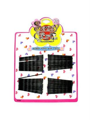 Picture of Black bobby pin set (Available in a pack of 24)