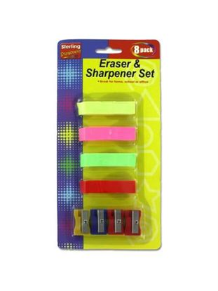 Picture of Eraser and sharpener set (Available in a pack of 24)