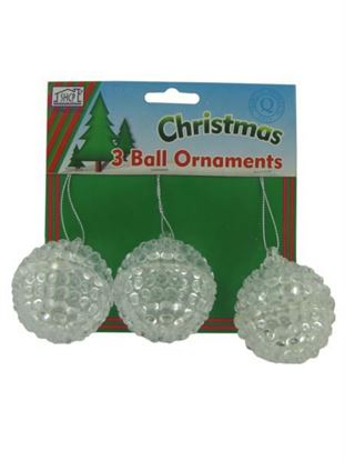 Picture of Ball ornaments, pack of 3 (Available in a pack of 24)