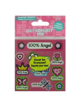 Picture of 100% angel sml stickers (Available in a pack of 24)