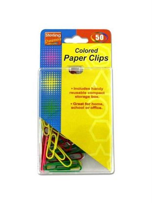 Picture of Colored paper clips (Available in a pack of 24)