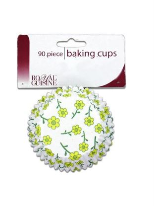 Picture of Baking cups with spring flower design (Available in a pack of 24)