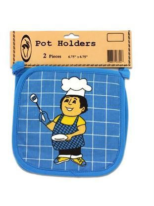 Picture of Pot holders, pack of 2, happy cook (Available in a pack of 24)