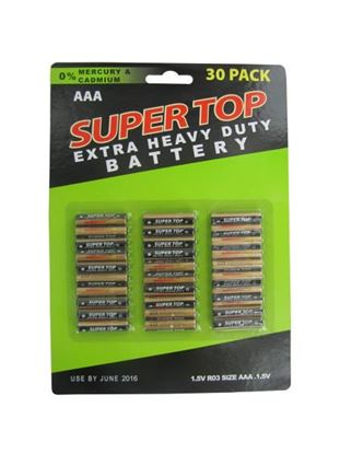 Picture of 30 Pack AAA Batteries (Available in a pack of 6)