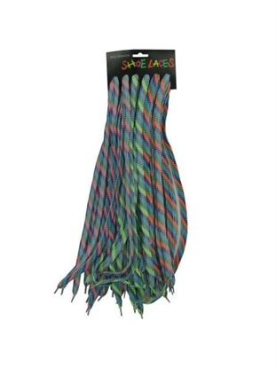 Picture of Neon checkered show laces, 12 per card (Available in a pack of 24)