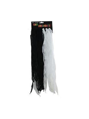 Picture of Black and white lace shoelaces (Available in a pack of 24)