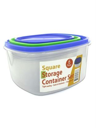 Picture of 3 Pack square storage container set sith lids (Available in a pack of 1)
