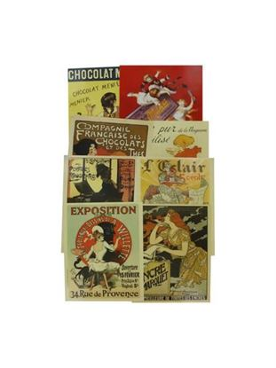 Picture of French poster art prints, pack of 4 (Available in a pack of 24)
