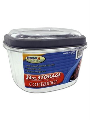 Picture of 33 ounce square plastic container (Available in a pack of 24)