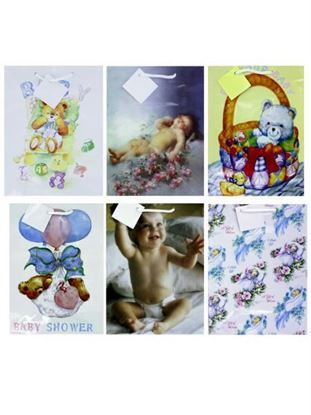 Picture of Baby gift bag, medium size, assortment (Available in a pack of 24)