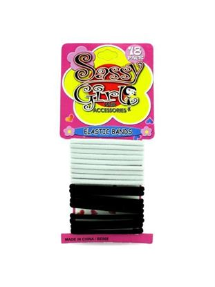 Picture of Black and white hair bands (Available in a pack of 24)