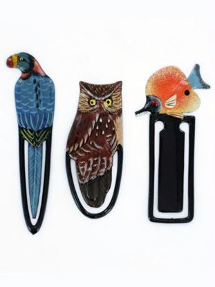 Picture of Assorted animal wooden bookmarks (Available in a pack of 24)