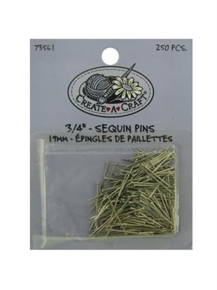Picture of 250 piece 3/4 inch sequin pins (Available in a pack of 24)