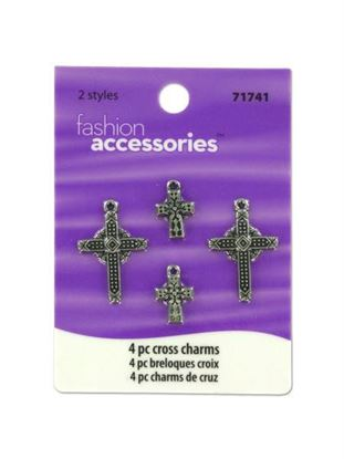 Picture of Cross charms, pack of 4 (Available in a pack of 25)