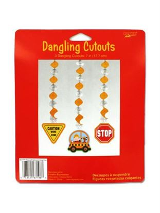 Picture of 3 construction party themed dangling cutouts (Available in a pack of 20)