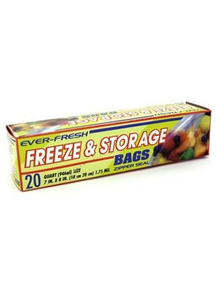 Picture of 20 Pack freezer & storage bags (Available in a pack of 24)