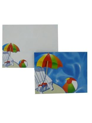 Picture of Pool party notecards with envelopes, pack of 12 (Available in a pack of 24)
