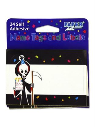 Picture of Grim Reaper name tags/labels, pack of 24 (Available in a pack of 24)