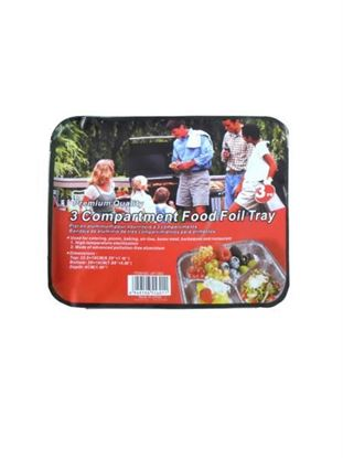 Picture of 3-compartment foil tray, 3 pack (Available in a pack of 8)