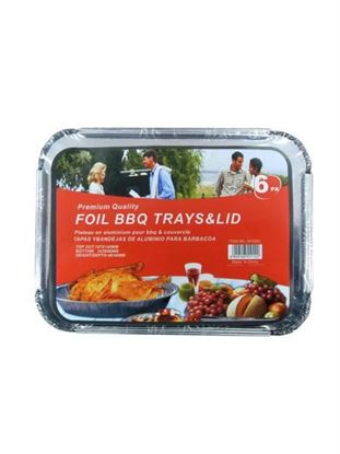 Picture of Barbecue tray and lid, 6 pieces (Available in a pack of 12)