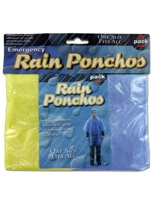 Picture of Emergency rain ponchos (Available in a pack of 24)
