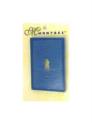 Picture of Blue ribbed switch plate (Available in a pack of 24)