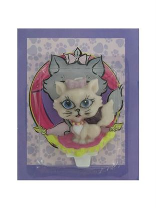 Picture of Kitty candle cake topper (Available in a pack of 24)
