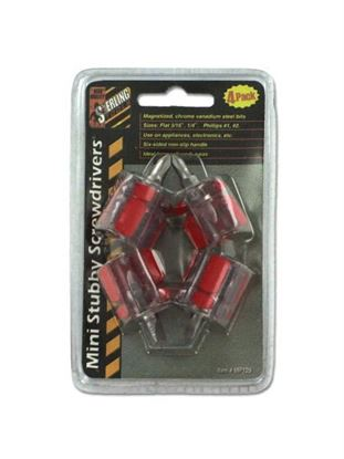 Picture of 4 Pack miniature stubby screwdriver set (Available in a pack of 36)