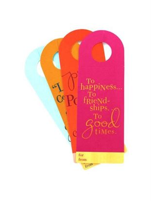 Picture of Set of four wine bottle tags (Available in a pack of 36)