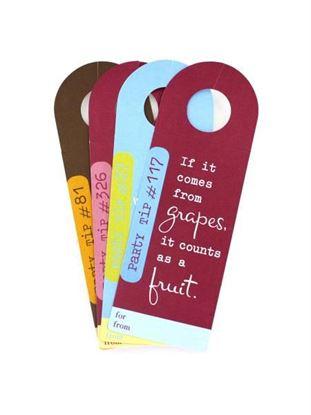 Picture of Party tips bottle tags, pack of 4 (Available in a pack of 36)