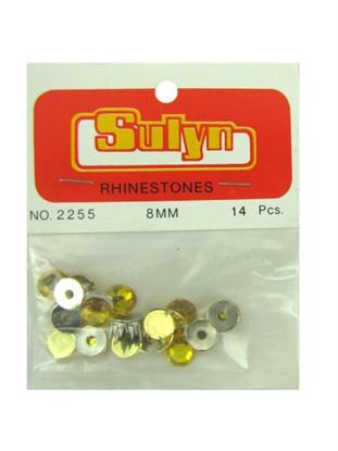 Picture of Gold rhinestones, pack of 14 (Available in a pack of 24)