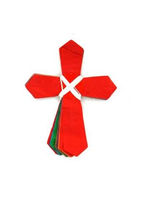 Picture of Multicolored Cross-Shaped Garland (Available in a pack of 30)