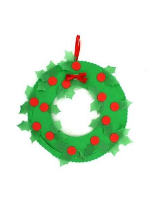 Picture of Tissue Paper Christmas Wreath Craft Kit (Available in a pack of 4)