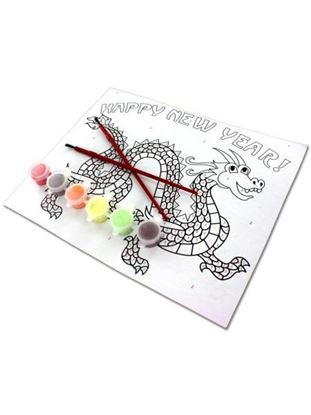 Picture of Paint-By-Number Chinese Dragon Craft Kit (Available in a pack of 24)