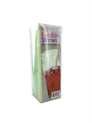 Picture of Flexible straws with dispenser box (Available in a pack of 24)