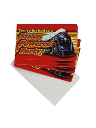 Picture of Railroad theme party invitations (Available in a pack of 36)