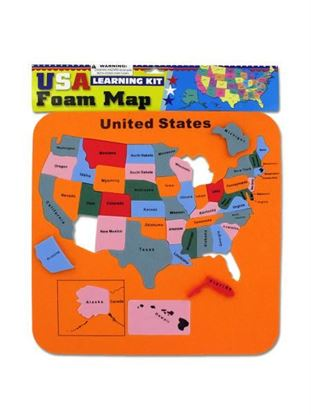Picture of USA foam map set (Available in a pack of 24)