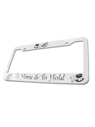Picture of Wedding License Plate Frame (Available in a pack of 25)