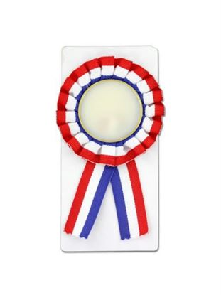 Picture of Red, white and blue award ribbon (Available in a pack of 24)