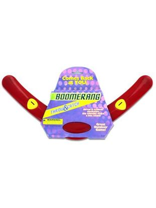 Picture of Red plastic boomerang (Available in a pack of 24)