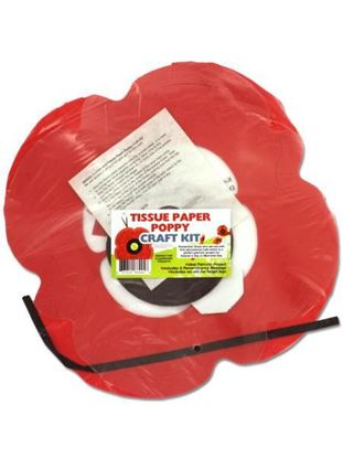 Picture of Tissue Paper Poppy Craft Kit (Available in a pack of 24)