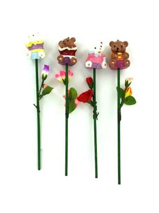 Picture of Bear candle on stem, assorted (Available in a pack of 24)