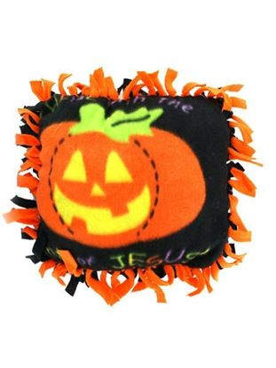 Picture of Fleece Christian Pumpkin Tied Pillow Craft Kit (Available in a pack of 24)
