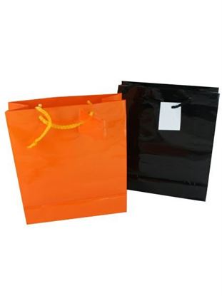 Picture of Halloween gift bags, orange and black (Available in a pack of 24)